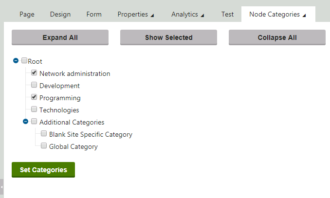 It's like the Advanced Category Selector, but Tabified!